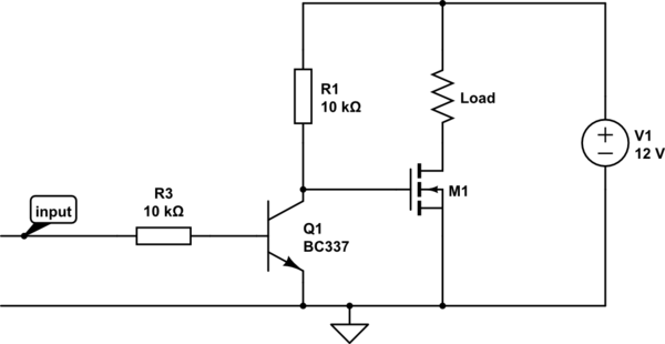 Circuit To Switch About 5W Of 12V Using CMOS Logic Inputs