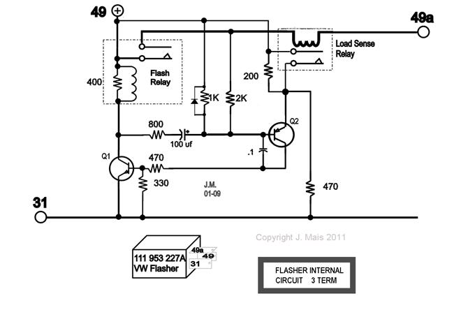 Electronic Flasher With Low Load Detection