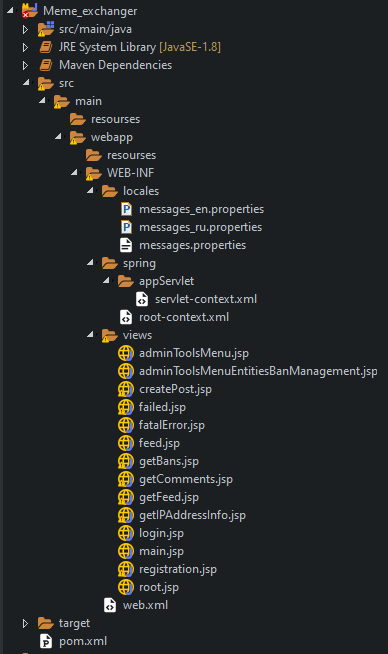 project structure without code