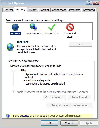 Windows Security Zone Policy