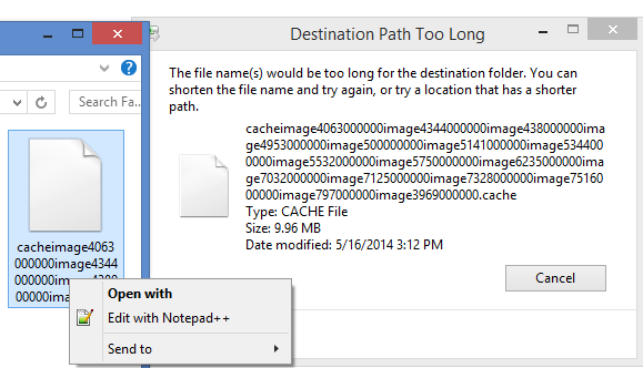 How To Delete A File With A Path Too Long To