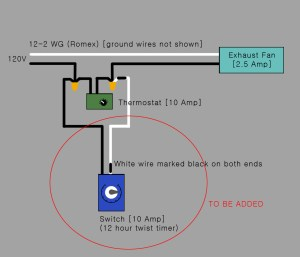 electrical  Would this be the correct way to add a timer