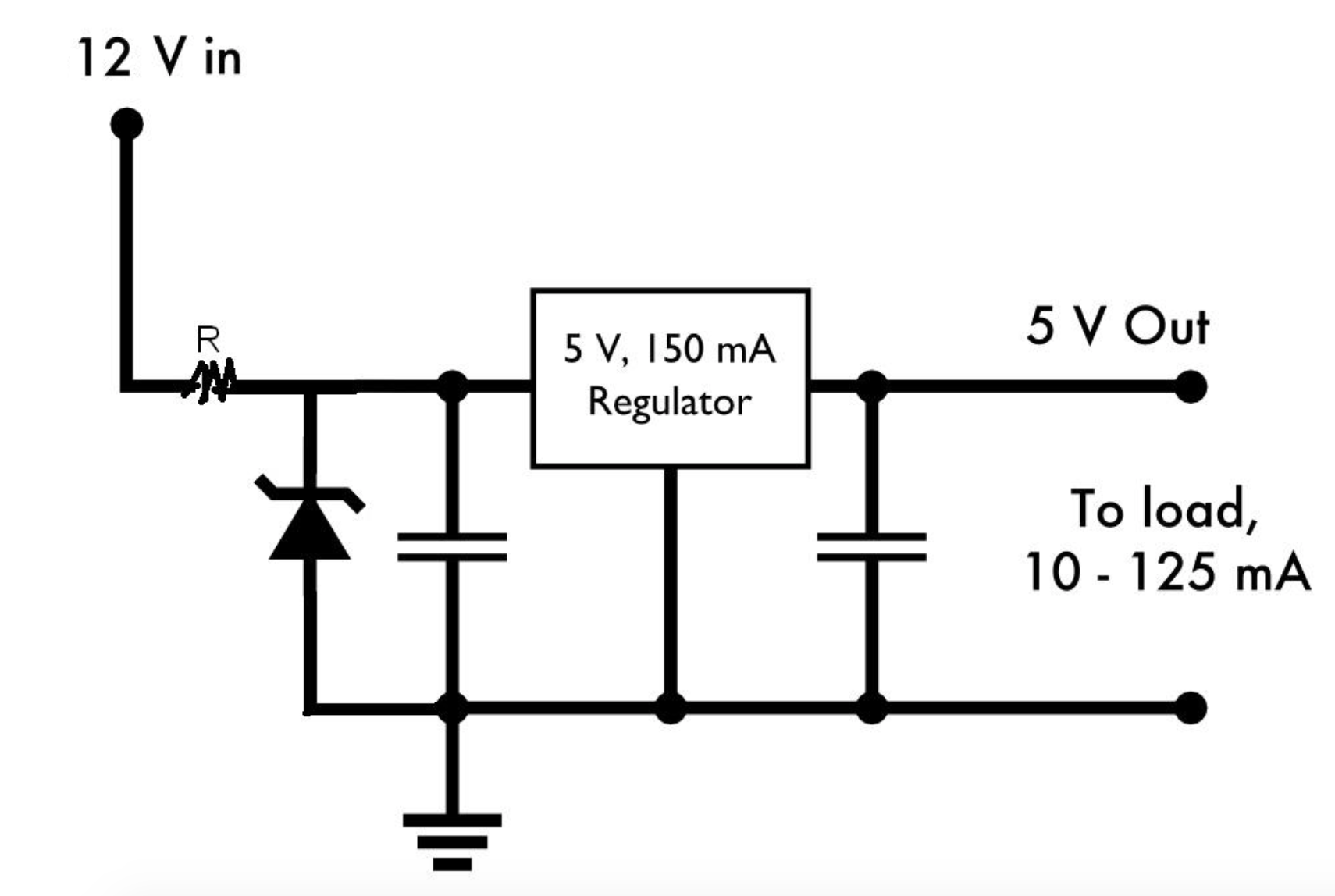 Zener Resistor Combination At The Input Of