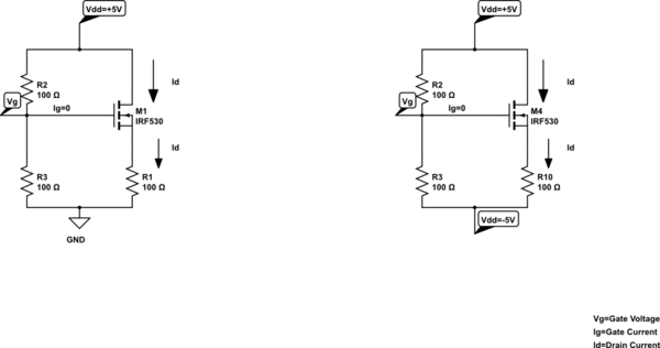 DC Analysis Of Common Source MOSFET Circuits To