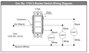 electrical  How to wire multicontrol rocker switch