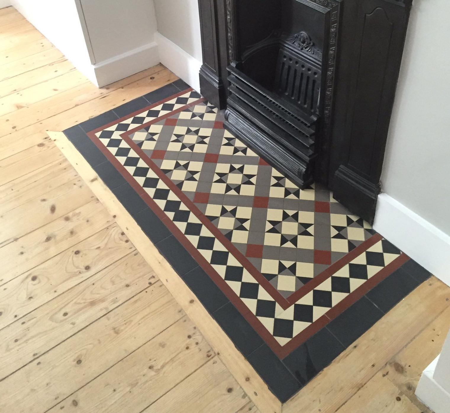 tiling over broken fireplace hearth
