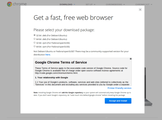 Download Chrome for Ubuntu 15.10