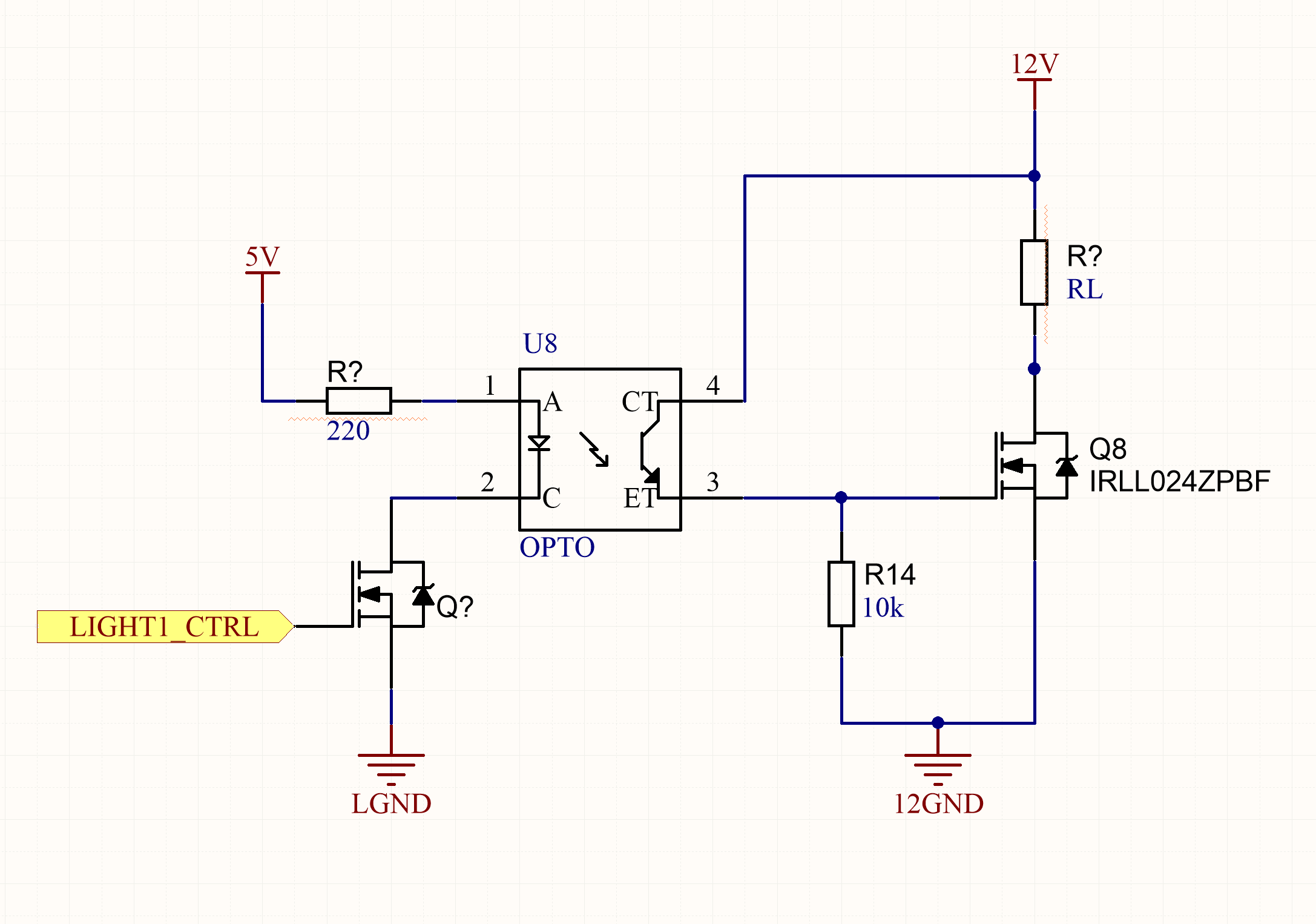Optocoupled Mosfet Drive