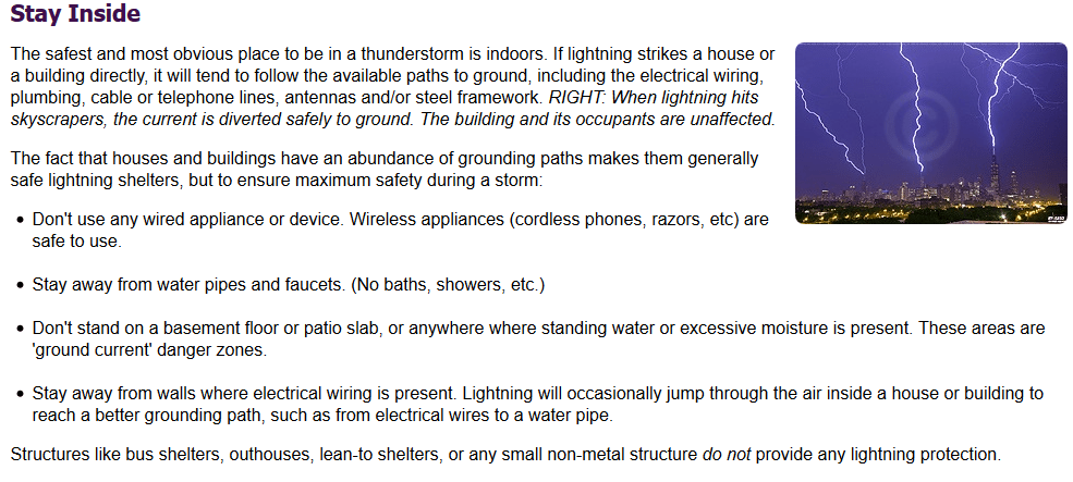 Image Result For Is It Safe To Shower During A Thunderstorm