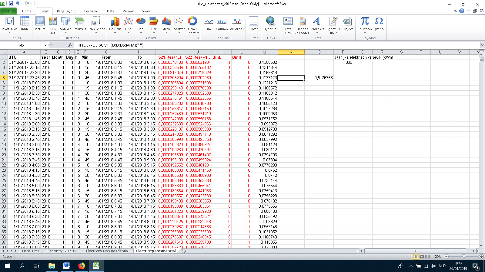 How To Calculate The Sum Of Values For One Day In Excel