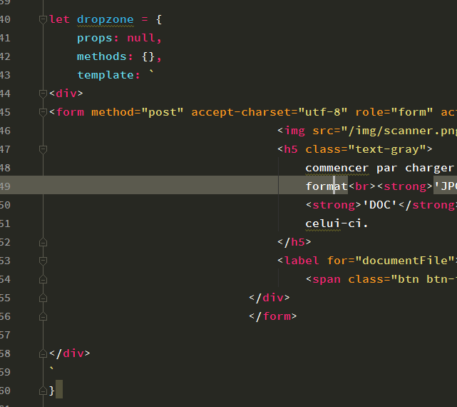 How To Reformat HTML Code In JavaScript File In PhpStorm