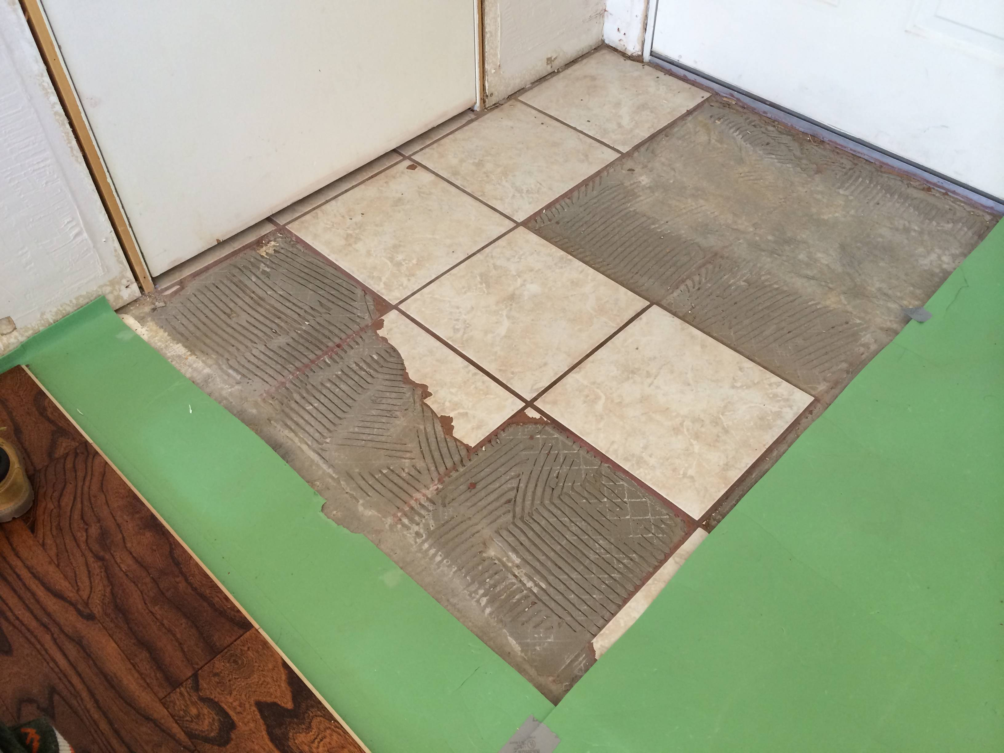 tile and thinset from a concrete slab