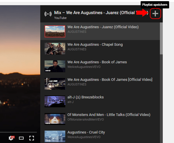 Is there a way to save the YouTube MIX playlist in my playlists ...