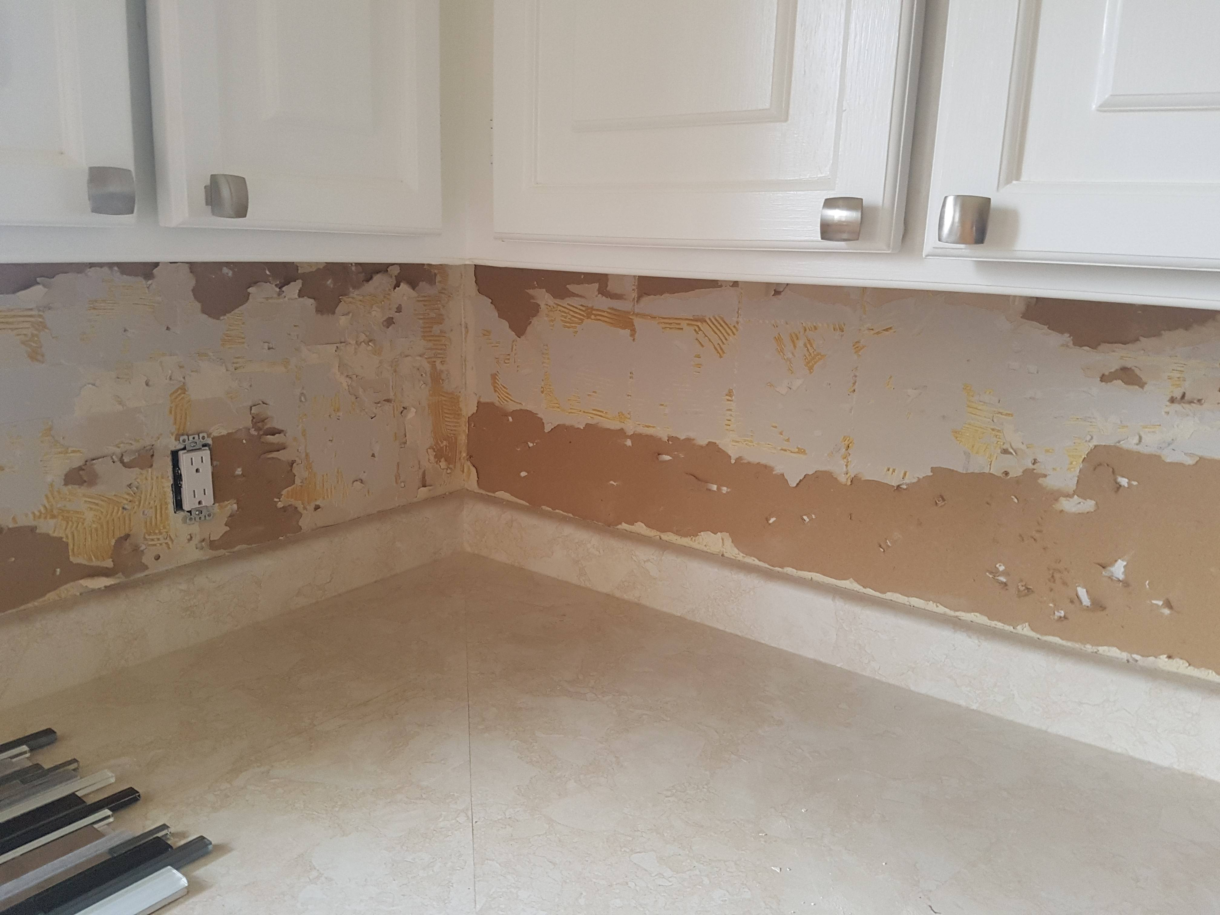 prep drywall before backsplash home