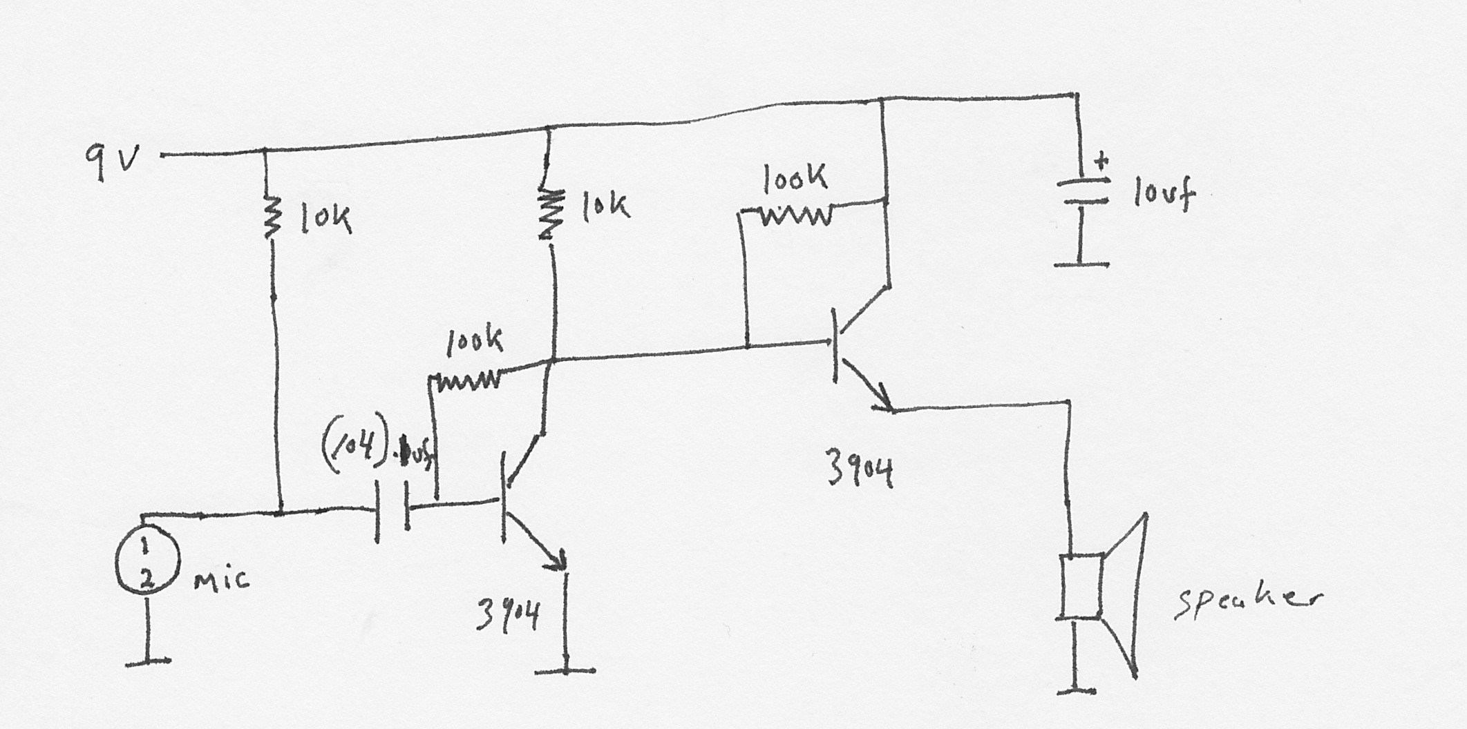 Simple Speaker Crossover Diagram