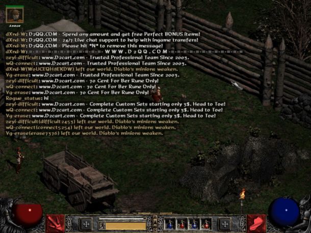 Diablo 2 How Can I Turn Off The Bot Spam Messages Arqade