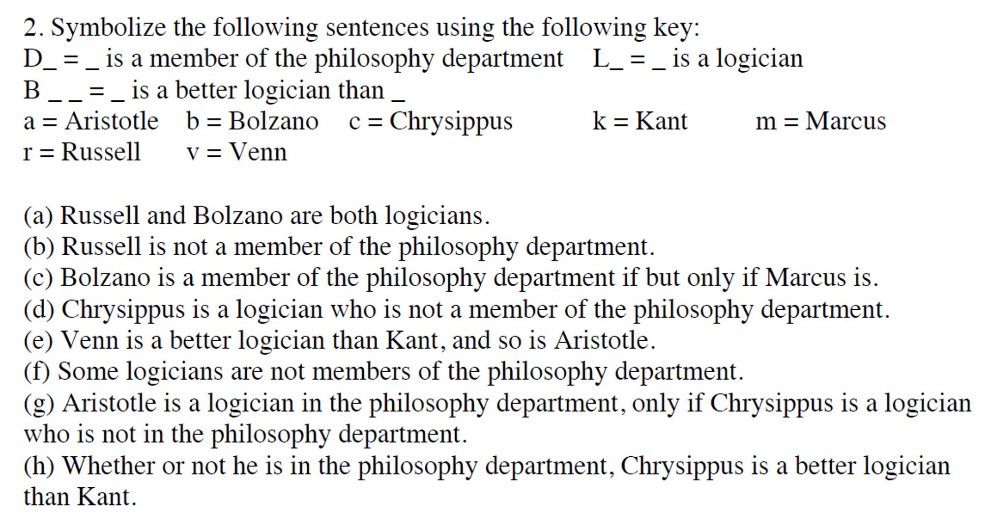 Quick Predicate Logic And Quantifier Homework Check