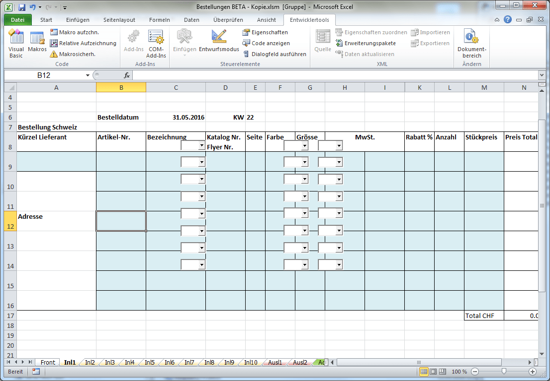 Printing To In Excel Vba