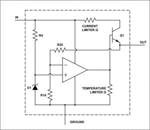 resistors  How does an LM7805 voltage regulator work