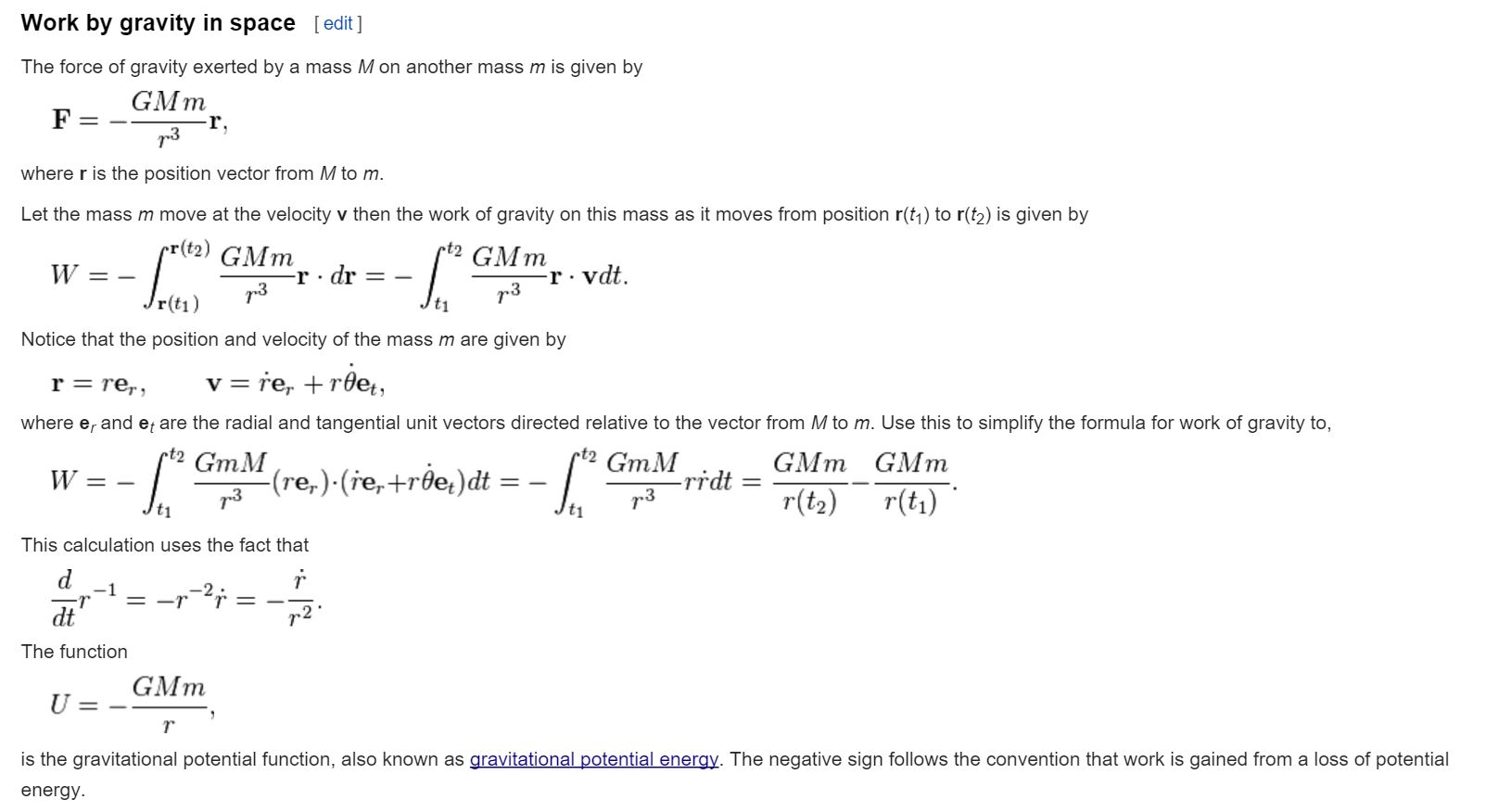 What Is The Equation Used To Calculate Gravitational Potential Energy
