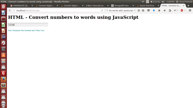 Transform numbers to words in lakh / crore system - Stack Overflow