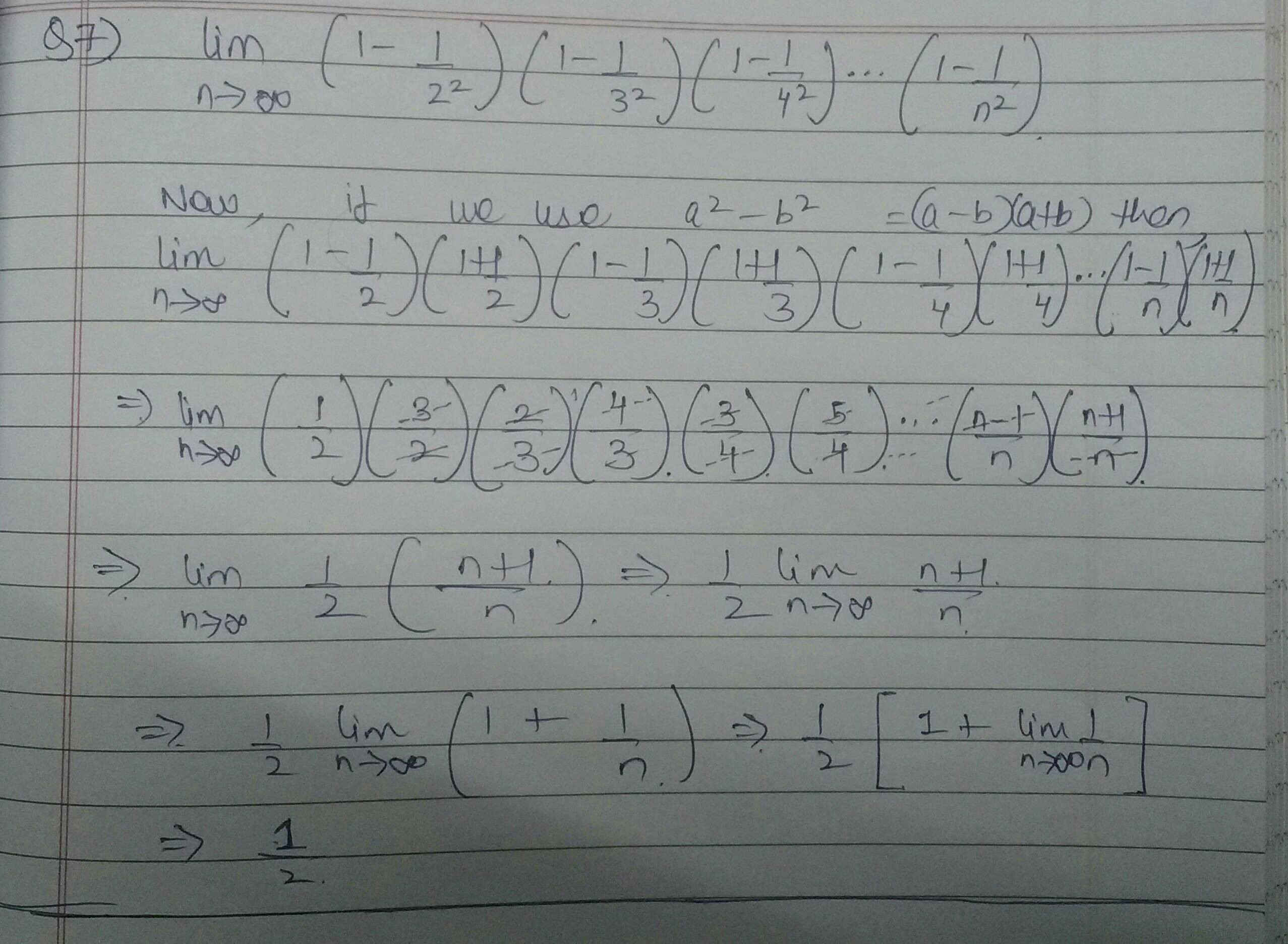 Limit Of A Product Sequence For Infinite Terms
