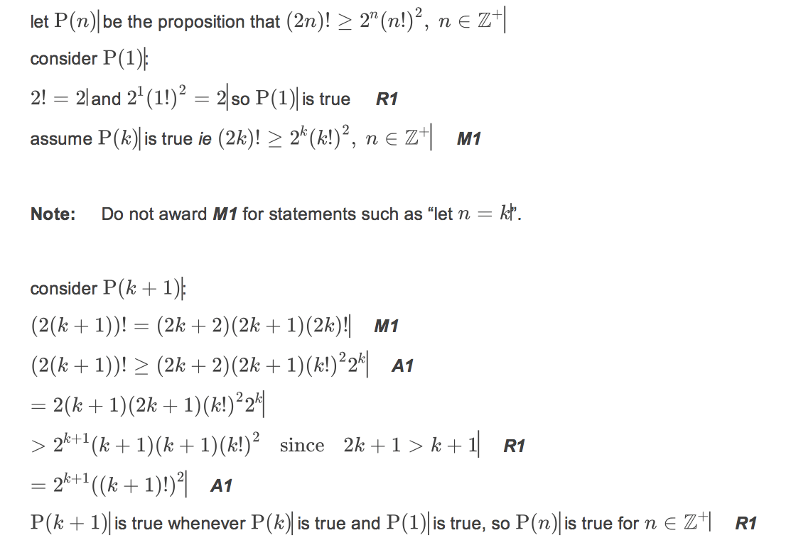 Question On Mathematical Induction Which Involves