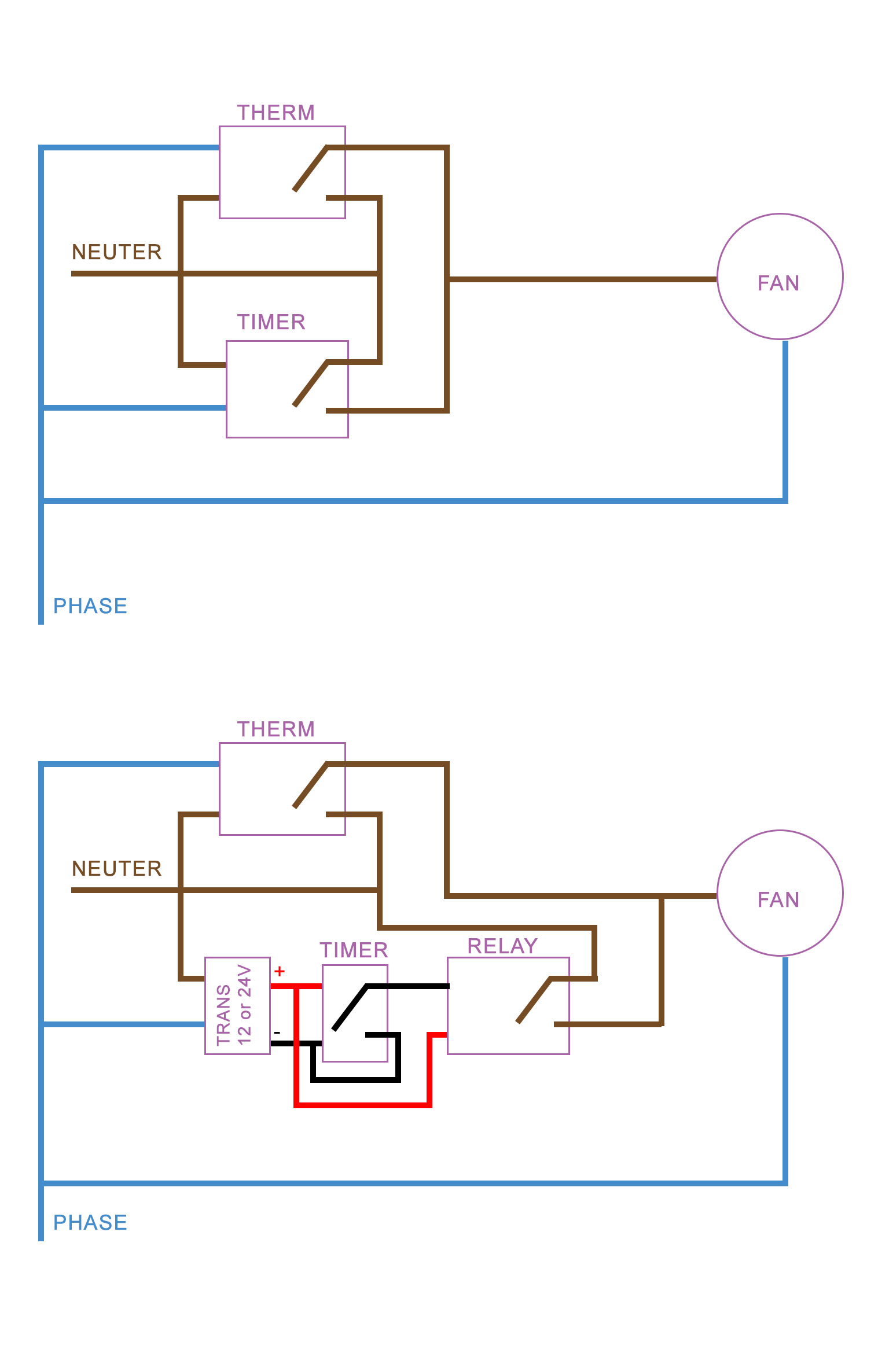 Wire In Parallel Thermostat And Timer To An Air Extractor