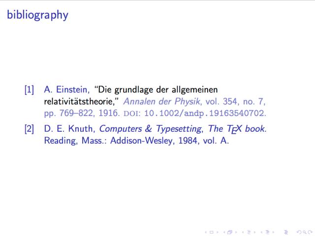 Add bibliography to my beamer presentation - TeX - LaTeX Stack
