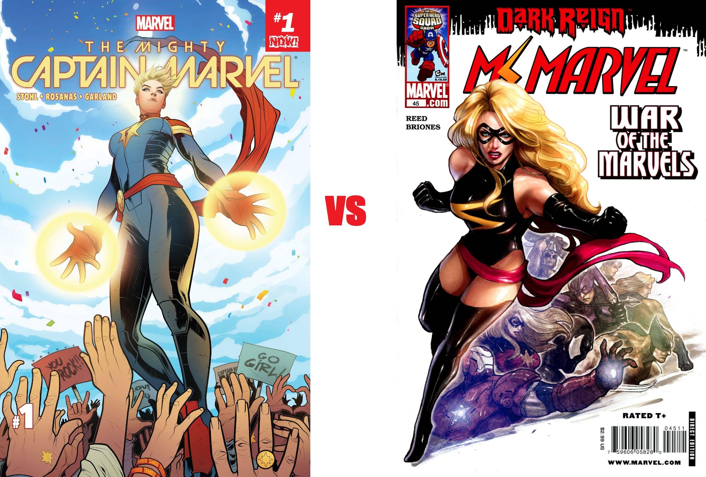 x men - captain marvel vs ms marvel clarification - science fiction