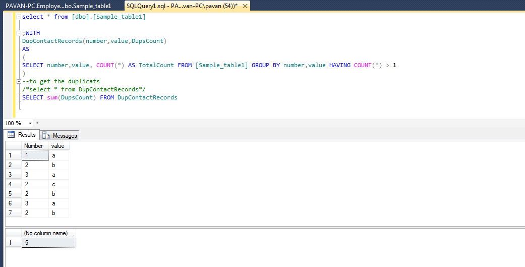 Count Of Duplicate Values By Two Columns In Sql Server