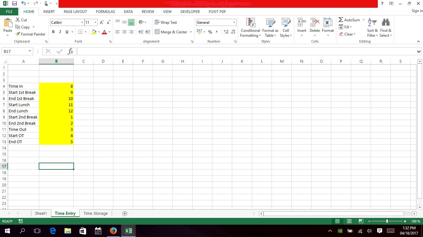 Excel Vba Monthly Timekeeping