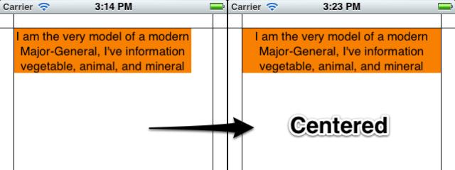 label alignment