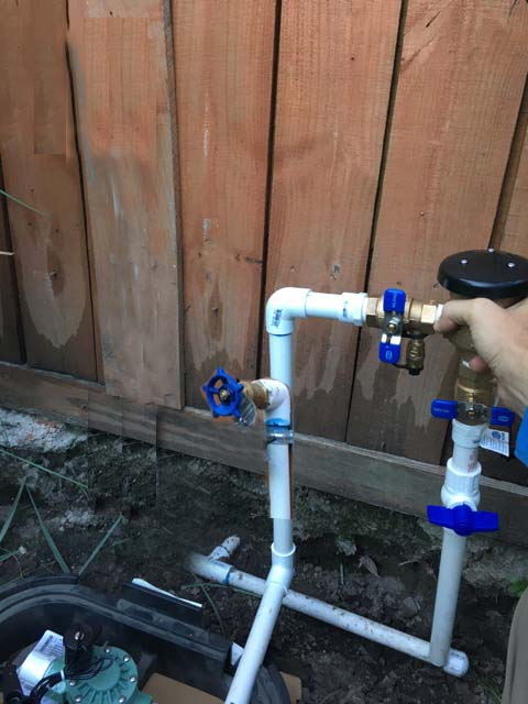 irrigation backflow preventer spigot