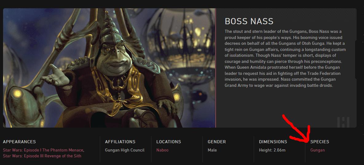 Star Wars Was Boss Nass A Gungan Science Fiction