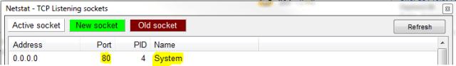 screenshot netstat port 80