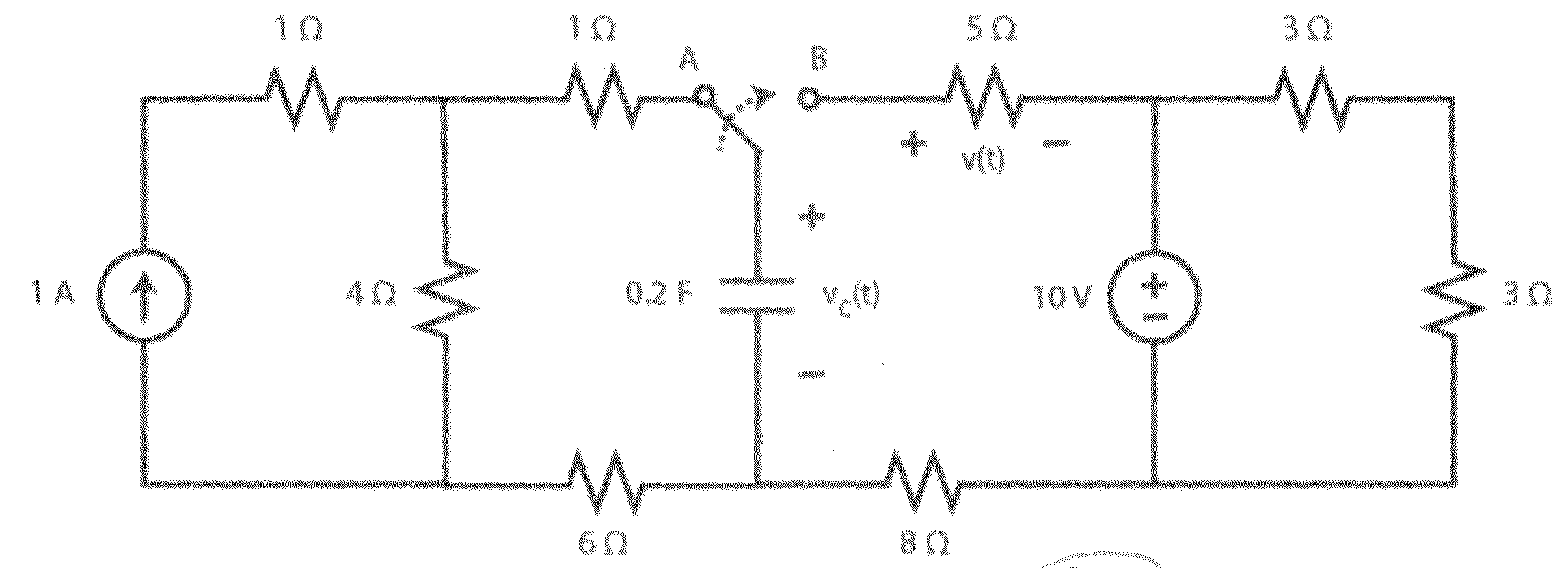 First-Order Transient Circuit With Capacitor