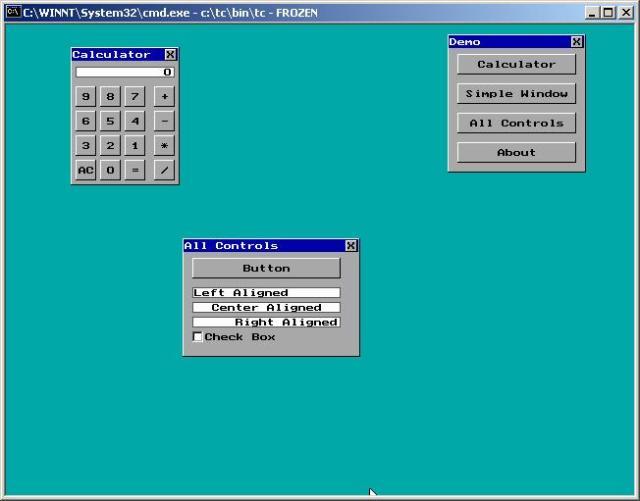 TurboGUI interface sample