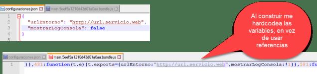 JSON y resultado transpilado