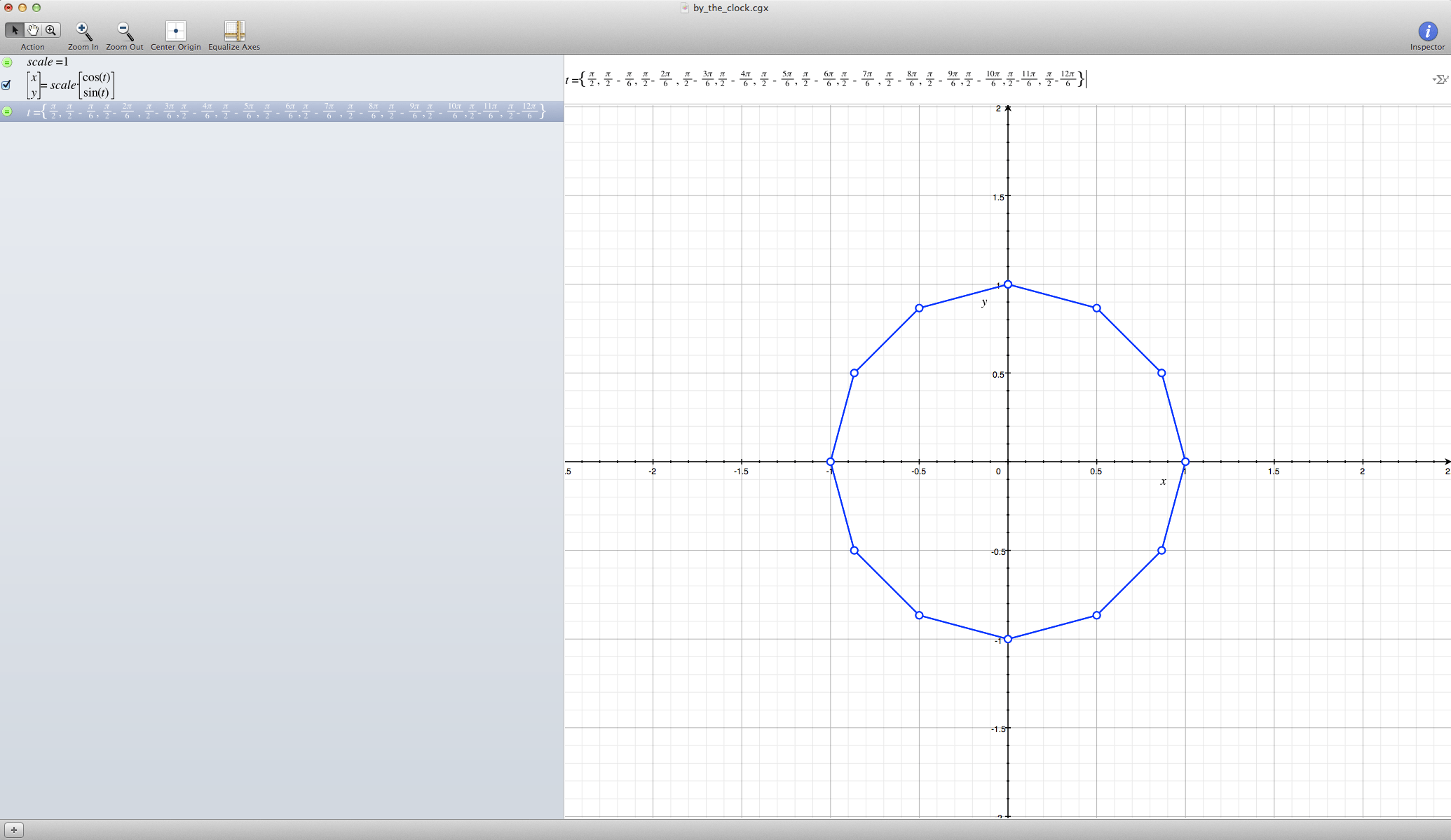 Formula For Graphing Circle Based On Points