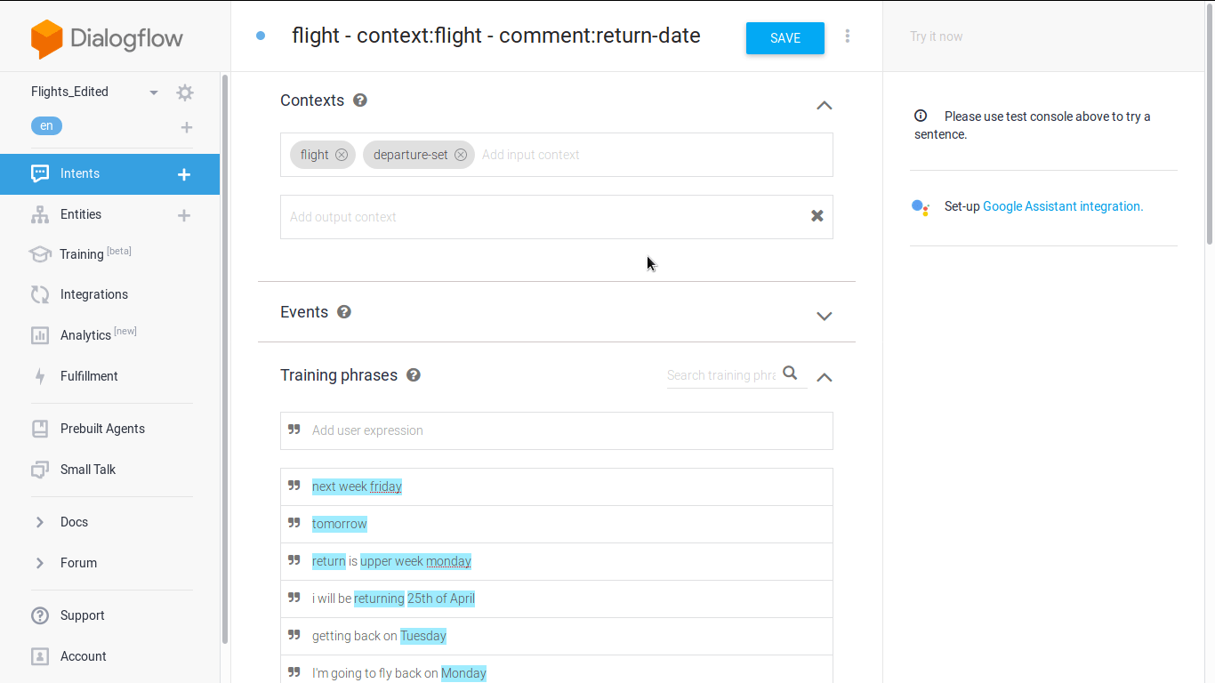 Dialogflow Date Intent Always Triggered Over Another