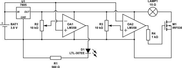 Reducing The Voltage Drop On A Simple Comparator