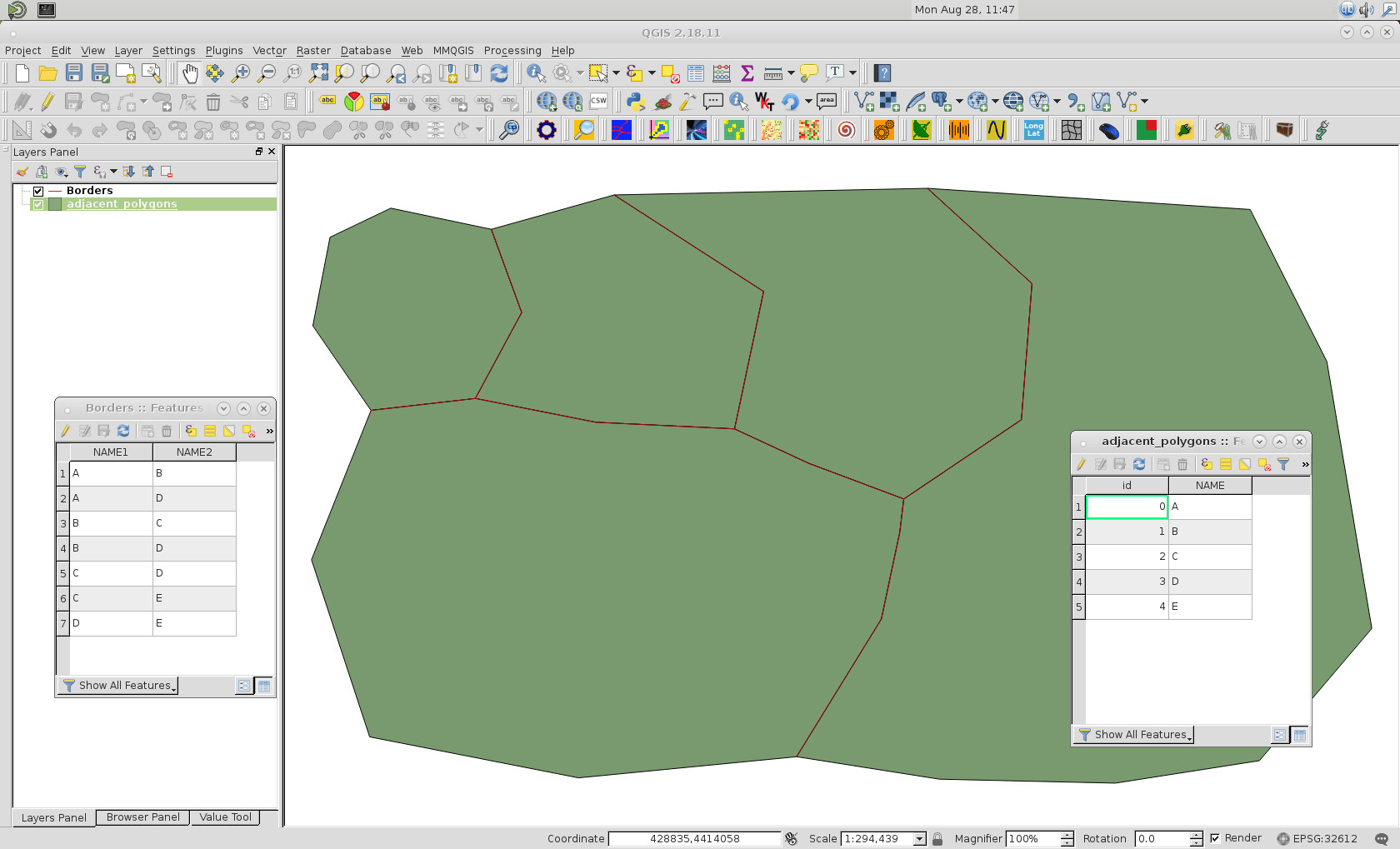 Adding Attributes For Polygons To Vector Layer With