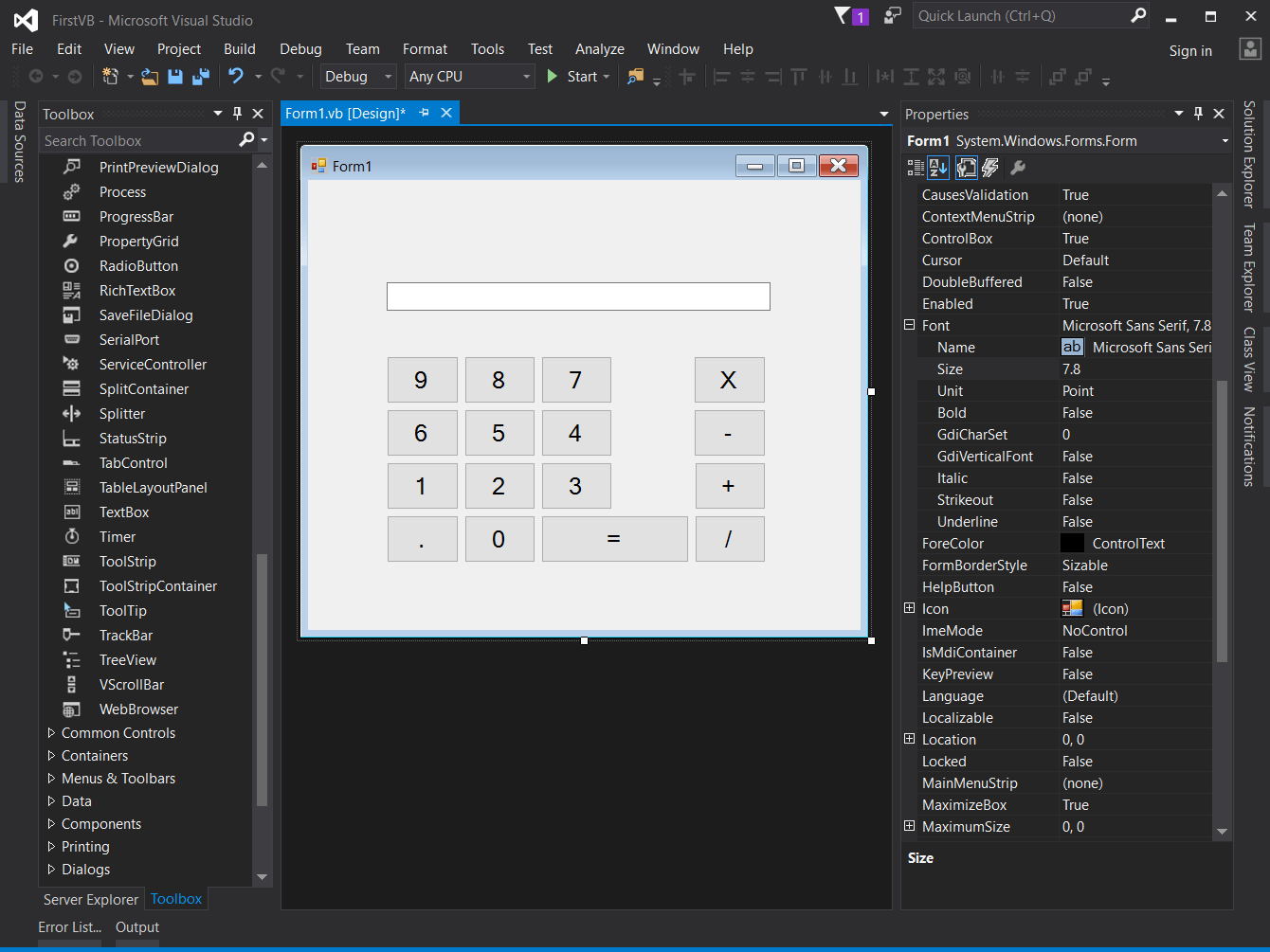 Getting Started With Visual Basic Language