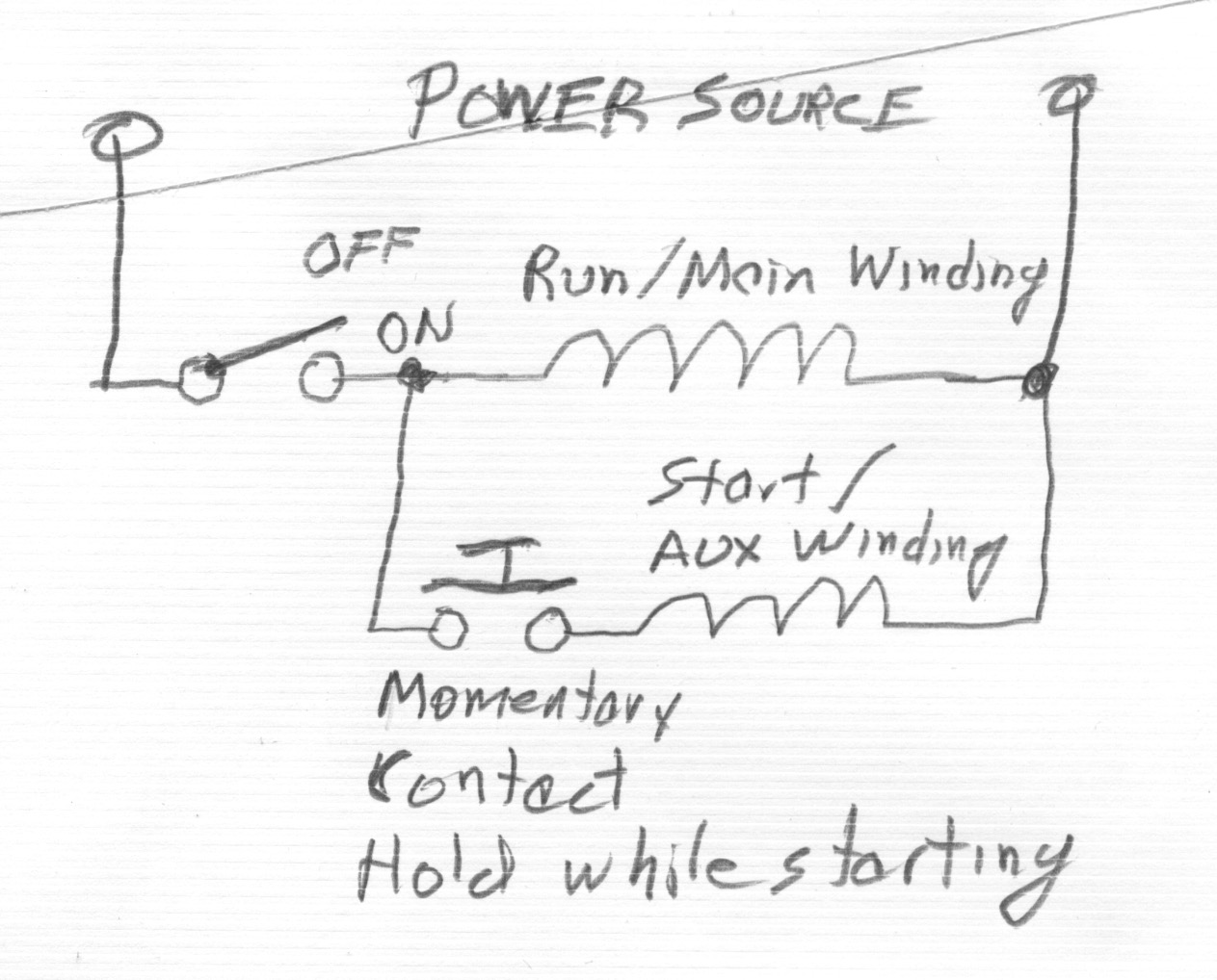 Split Phase Motor Windings