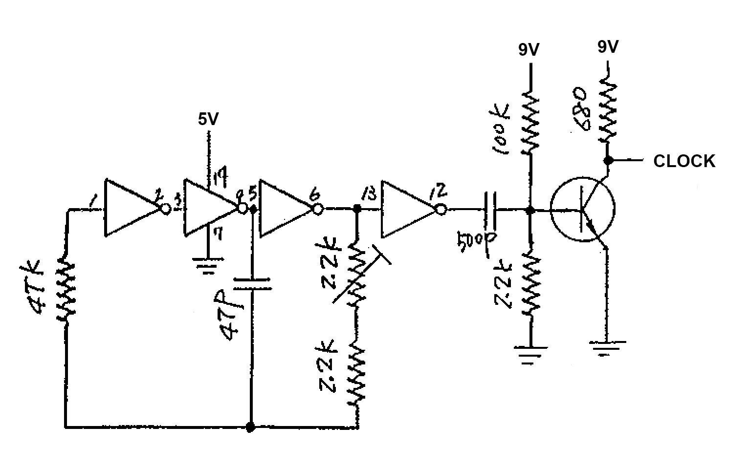 Hex Inverter Oscillator