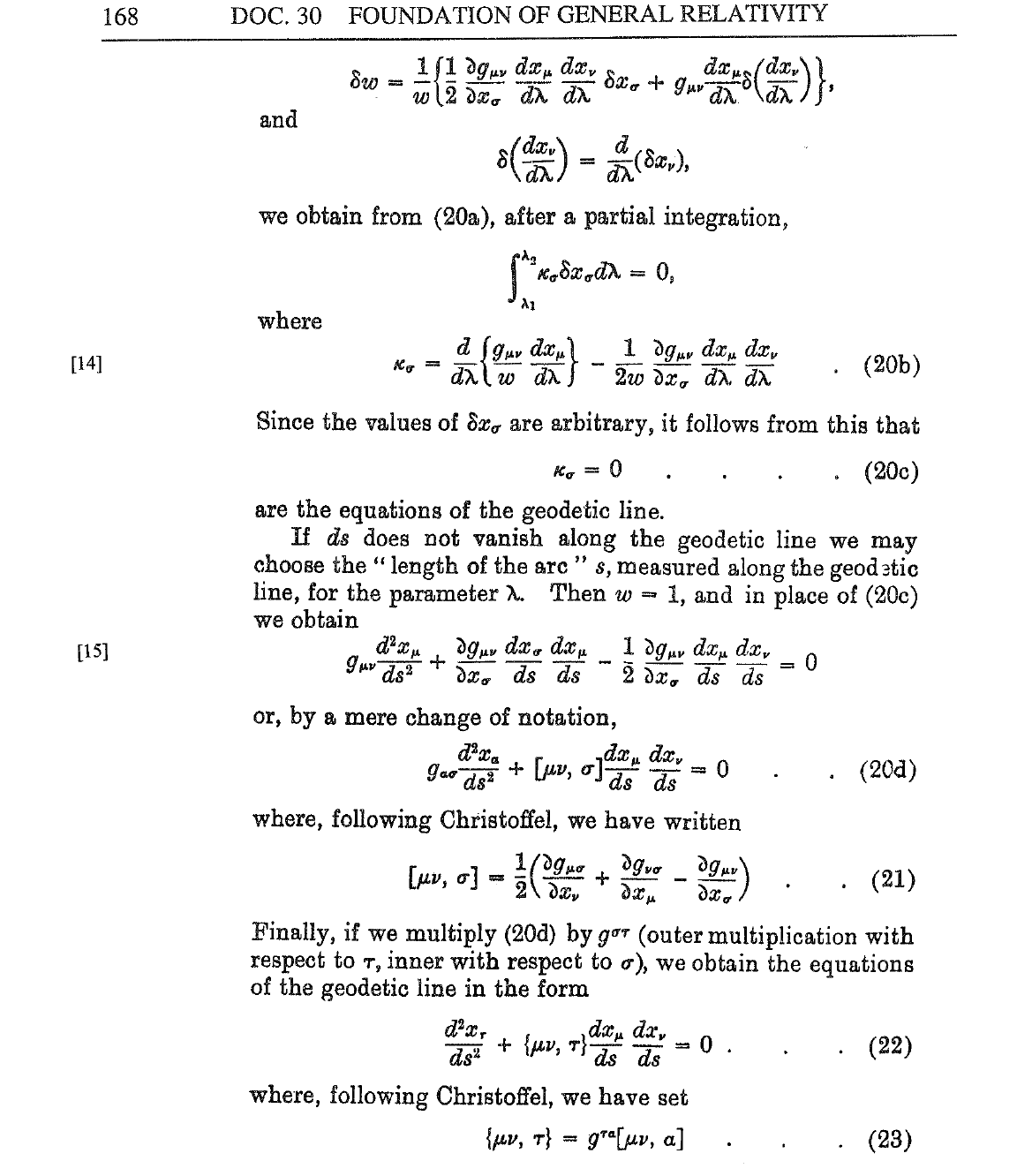 Albert Einstein Equation List