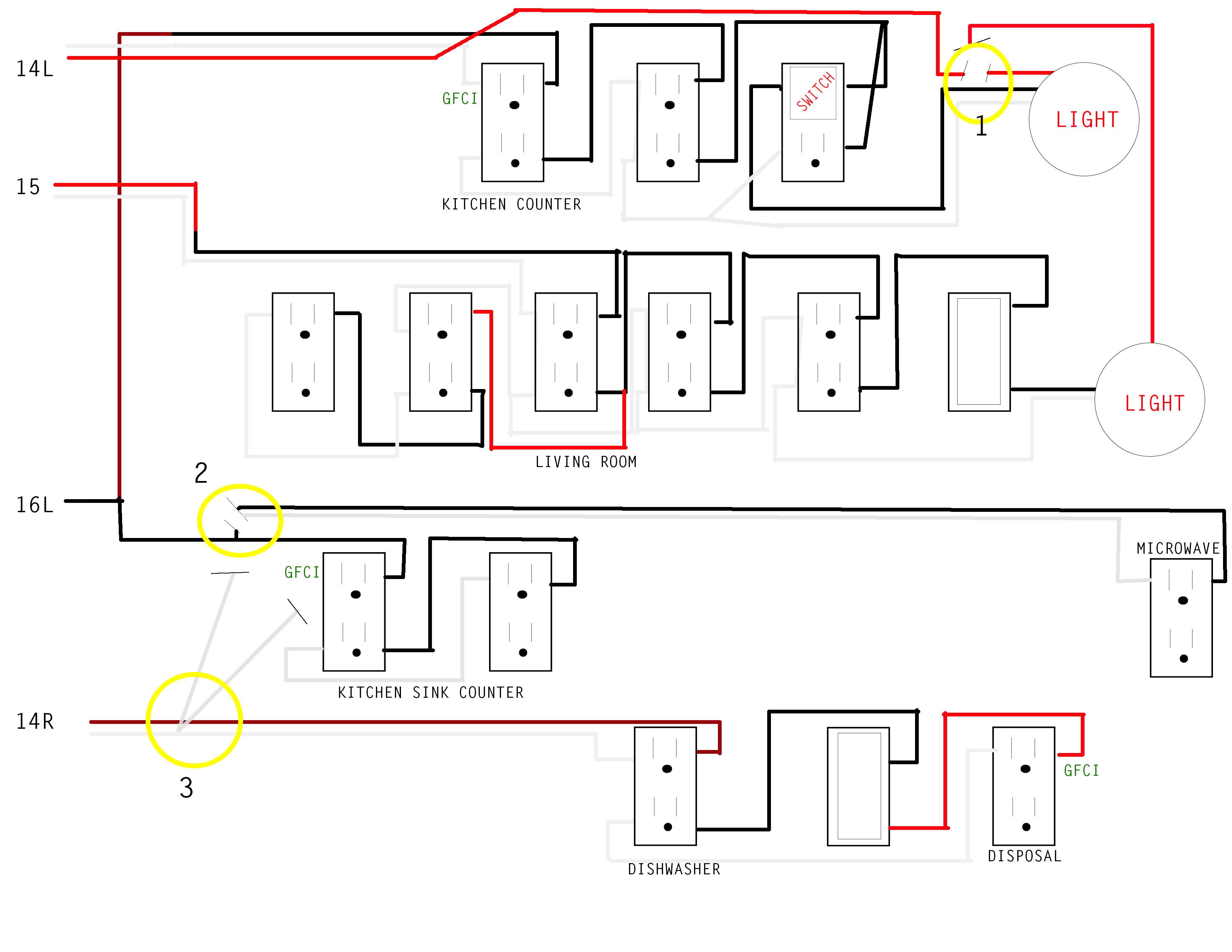 Kitchen Wiring Issue
