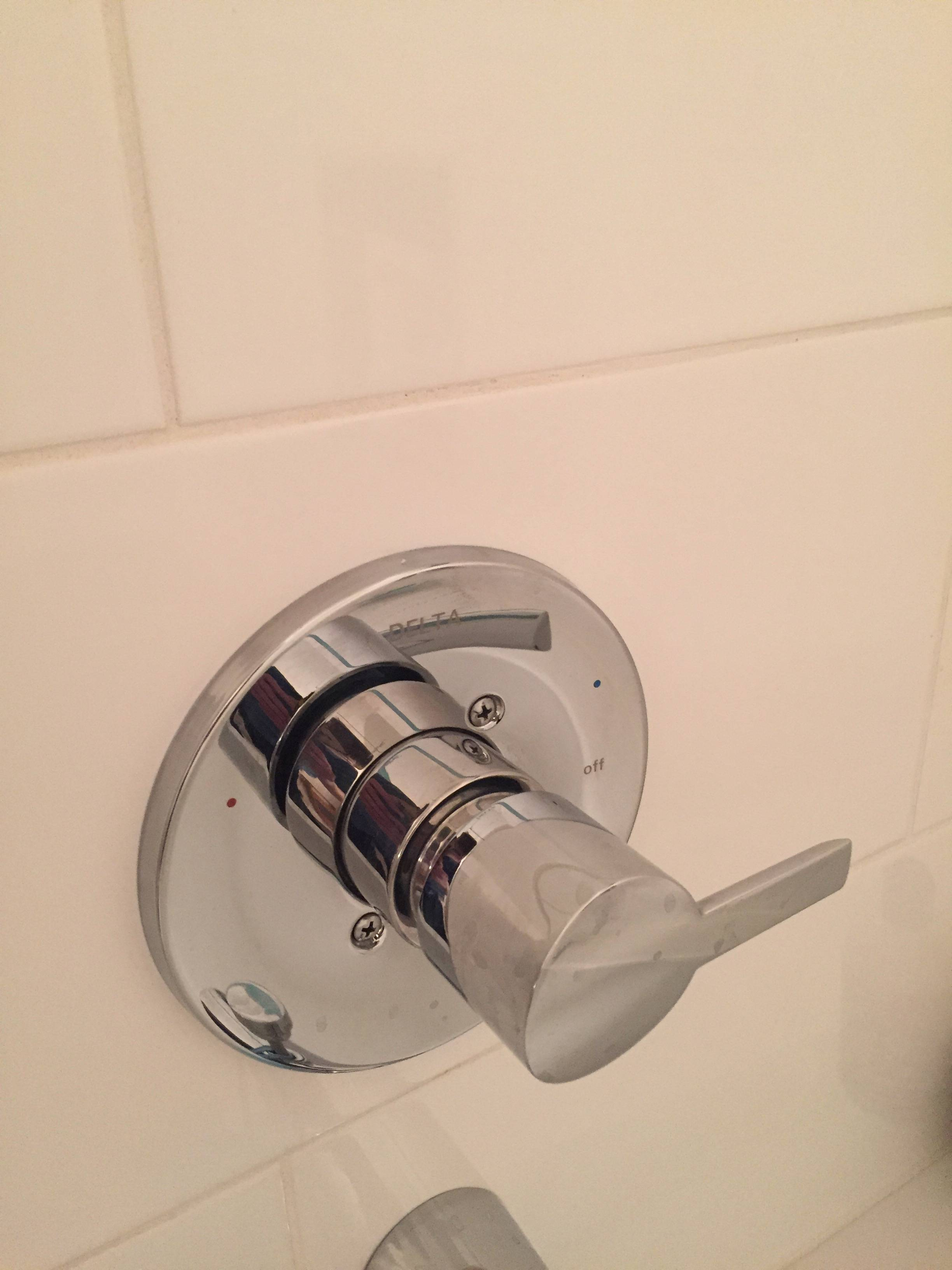 shower tub valve leaking from behind