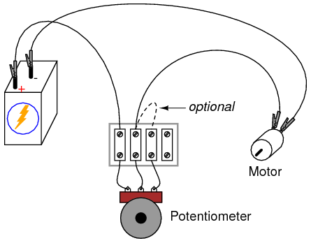 wiring a potentiometer for a positive voltage  electrical